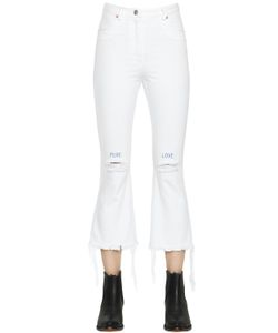 Forte Couture | Pure Love Embroide Crop Denim Jeans