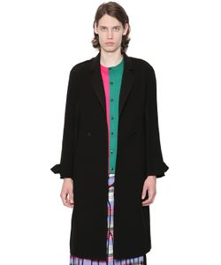 J.W.Anderson   Double Breasted Bonded Crepe Coat