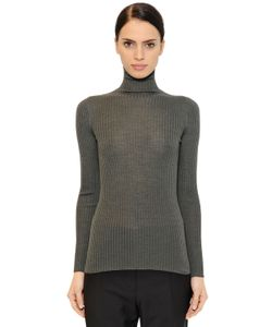 Jil Sander | Ribbed Cashmere Silk Blend Sweater
