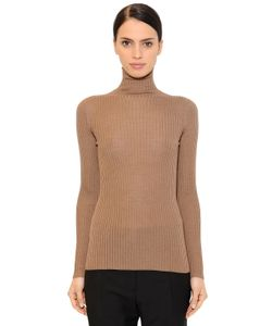 Jil Sander | Ribbed Cashmere Silk Blend Sweater