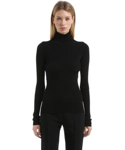 Jil Sander | Open Back Ribbed Knit Sweater