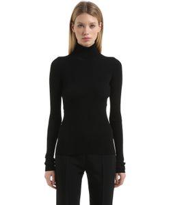 Jil Sander | Open Back Ribbed Knit Sweater