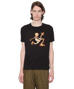 J.W.Anderson   Print Mercury Man Cotton Jersey T-Shirt
