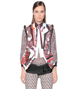 Just Cavalli | Printed Techno Vest With Decorative Trim