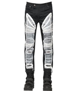 Hood By Air | 16.5cm Astronaut Printed Denim Jeans