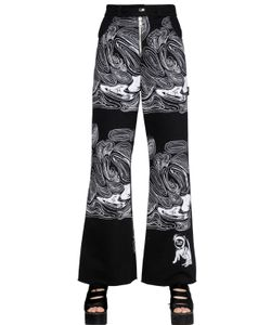 Claire Barrow | Cell Printed Cotton Denim Jeans