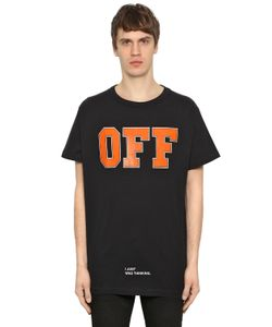 Off-White | Printed Cotton Jersey Oversize T-Shirt