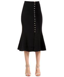 David Koma | Embellished Striped Cady Skirt