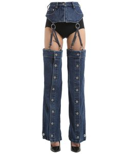 Y / Project | Transformer Cotton Denim Jeans