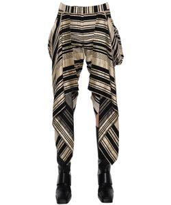Gareth Pugh   Asymmetric Ruffled Linen Blend Pants