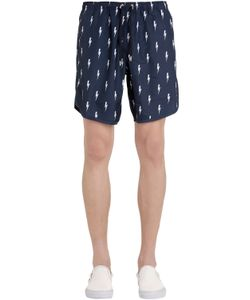 Neil Barrett | Bolts Printed Nylon Swim Shorts