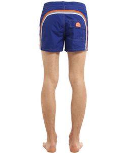 Sundek | Fixed Waistband Mid-Length Swim Shorts