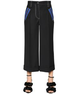 Marco de Vincenzo | Pinstriped Cool Wool Cropped Pants