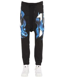 11 By Boris Bidjan Saberi | Printed Cotton Jersey Jogging Pants