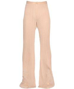 Vionnet | Plisse Fla Silk Crepon Pants