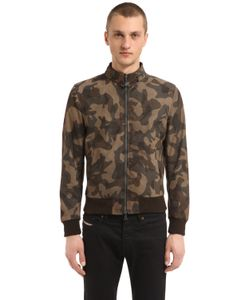 MATCHLESS LONDON | Reversible Suede Camo Bomber Jacket