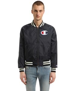 Champion | Reversible Logo Nylon Bomber Jacket