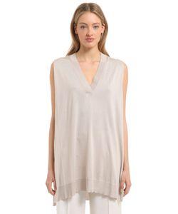 Calvin Klein Collection | Fine Silk Knit Sleeveless Top