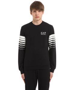 EA7 Emporio Armani | Logo Stretch Cotton Sweatshirt