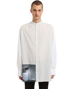 Raf Simons   American Flag Oversized Cotton Shirt
