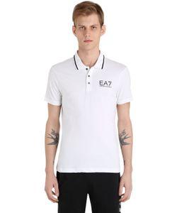 EA7 Emporio Armani | Logo Cotton Jersey Stretch Polo Shirt