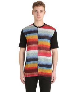 Lanvin   Rainbow Striped Cotton Sleeveless Top