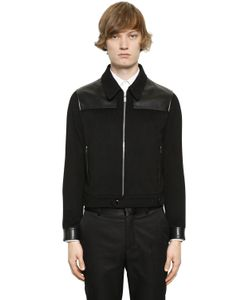 Alexander McQueen | Cashmere Jacket With Leather Details