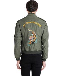 AS65 | Vintage Tiger Gabardine Bomber Jacket