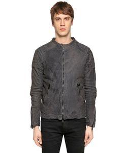 Giorgio Brato | Washed Reversed Leather Jacket