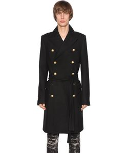 Balmain | Long Wool Cashmere Coat W Belt