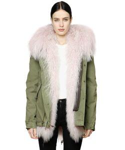 Mr & Mrs Italy | Canvas Parka W Animal Friendly Fur