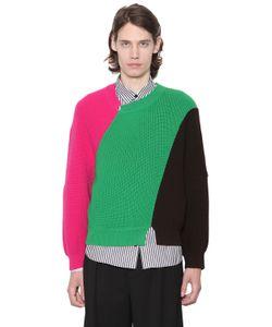 J.W.Anderson   Color Block Merino Wool Knit Sweater