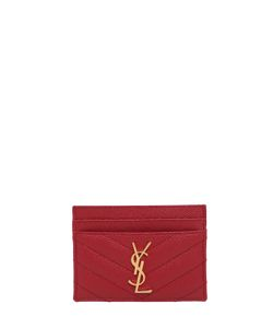 Saint Laurent | Quilted Monogram Leather Card Holder