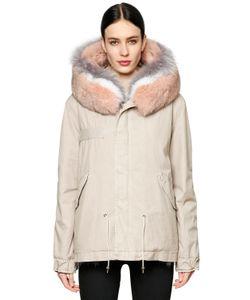 Mr & Mrs Italy | Canvas Parka W Fur Trim Lining
