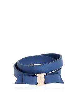 Salvatore Ferragamo | Doubled Leather Bracelet W Bow
