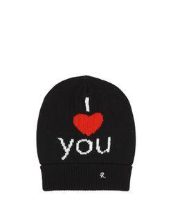 Raf Simons | I Love You Jacquard Wool Beanie Hat