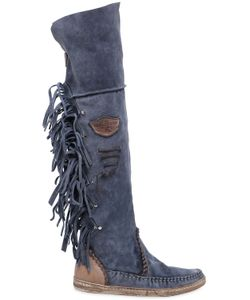 EL VAQUERO | 20mm Fringed Over The Knee Suede Boots