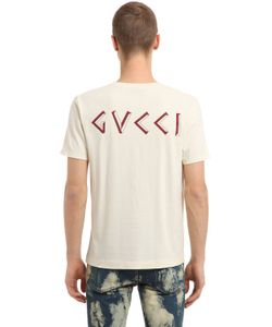 Gucci | Printed Vintage Cotton Jersey T-Shirt