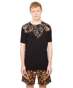 Marcelo Burlon County Of Milan   Cotton Jersey Snake T-Shirt