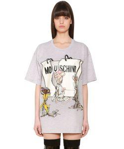 Moschino | Oversized Printed Cotton Jersey T-Shirt