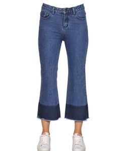 TPN   Cropped Frayed Cotton Denim Jeans