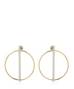 Eshvi   Rebel Circle Bar Earrings