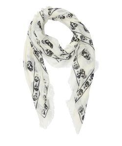 Alexander McQueen | Skull Printed Knit Scarf
