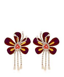 Shourouk | Alcantara Flower Earrings