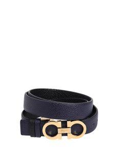 Salvatore Ferragamo | 25mm Grainy Reversible Leather Belt