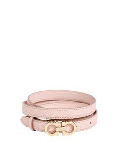 Salvatore Ferragamo | 15mm Embossed Leather Belt