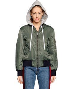 Forte Couture | Hooded Nylon Bomber Jacket