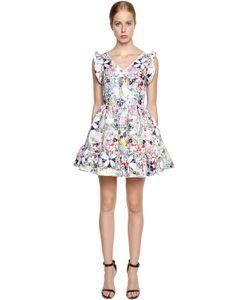 Piccione.Piccione | Print Techno Mikado Ruffled Dress