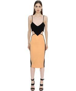 David Koma | Cutout Stretch Jersey Pencil Dress