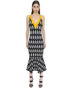 David Koma | Geometric Jacquard Knit Dress